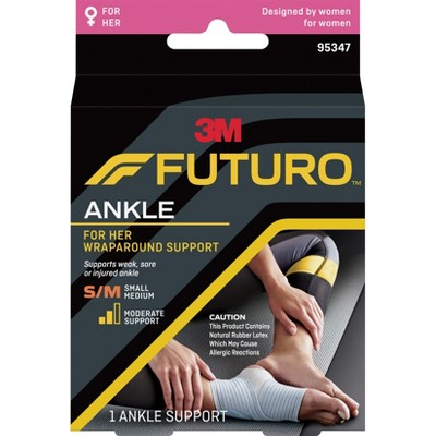 Futuro Slim Silhouette Ankle Support Brace, Gray, Small/Medium