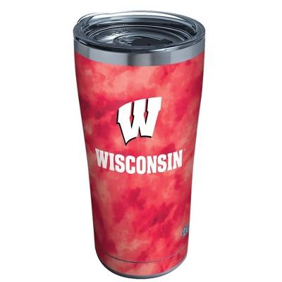 NCAA Wisconsin Badgers 20oz Tie Dye Stainless Steel Tumbler
