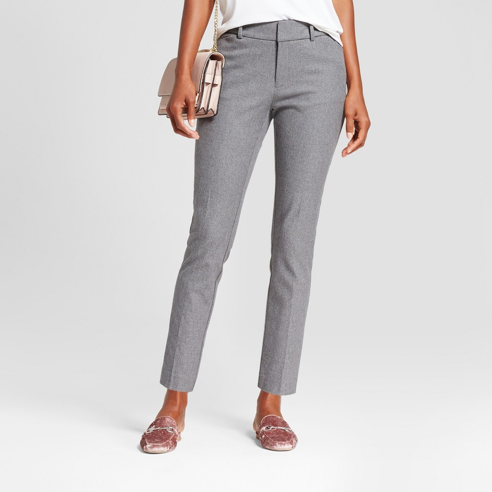 Women's Skinny High Rise Ankle Pants - A New Day Gray 4