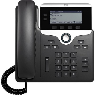 Cisco 7821 IP Phone - Wall Mountable - Black - 2 x Total Line - VoIP - Caller ID