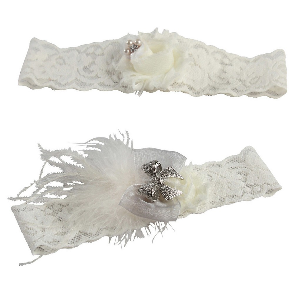 Hailey Lace with Silver Brooch Ivory - M