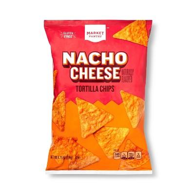 Nacho Cheese Tortilla Chips - 9.75oz - Market Pantry™