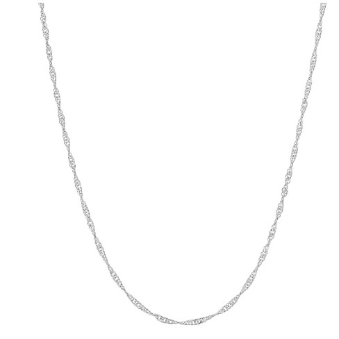 "Adjustable Singapore Chain In Sterling Silver - 16"" - 22"" - image 1 of 2"