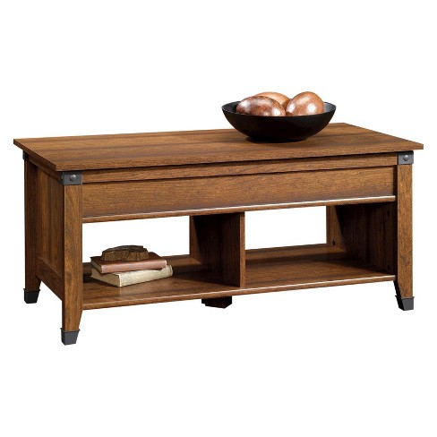 Carson Forge Lift Top Coffee Table Washington Cherry Sauder