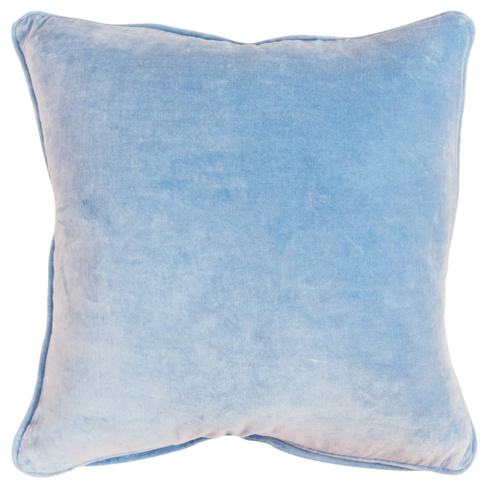 Image of Connie Post Solid Poly Filled Pillow Light Blue - Rizzy Home
