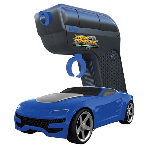 Max Traxxx Tracer Racers RC Car and Controller Blue - image 1 of 2