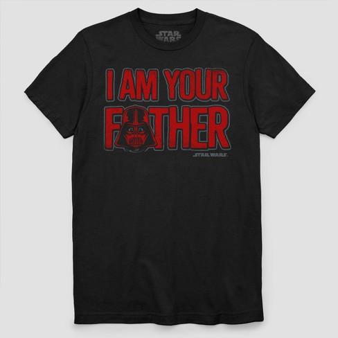 d71d7be3 Men's Star Wars Darth Vader I Am Your Father Short Sleeve T-Shirt - Black