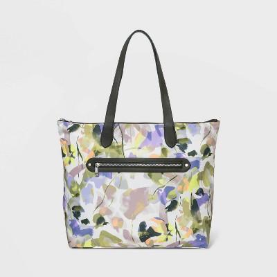 Studded Zip Closure Shoulder Handbag - A New Day™