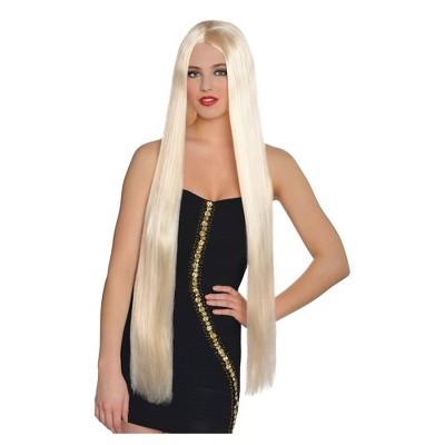 "36"" Lavish Blonde Halloween Costume Wig"