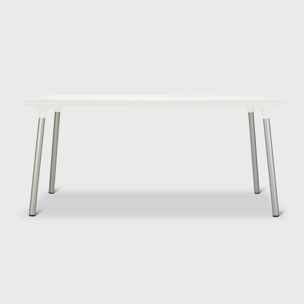Image of New Flash Rectangular Patio Table - White - RESOL