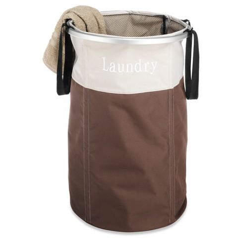 Whitmor Easycare Round Laundry Hamper Java - image 1 of 4