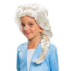 Girls' Frozen 2 Elsa Halloween Costume Wig