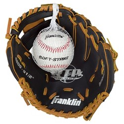 "Franklin Sports Teeball Glove with Ball Left Hand Thrower (9.5"")"