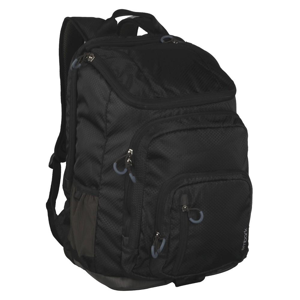 "Image of ""19"""" Jartop Elite Backpack - Black - Embark , Size: Large"""