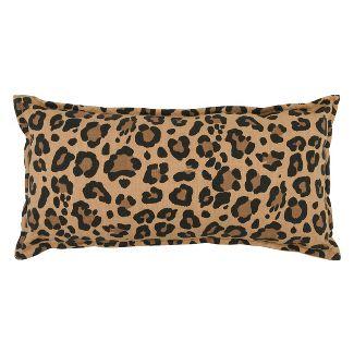 Oversize Leopard Printed Linen Lumbar Throw Pillow Neutral - Threshold™