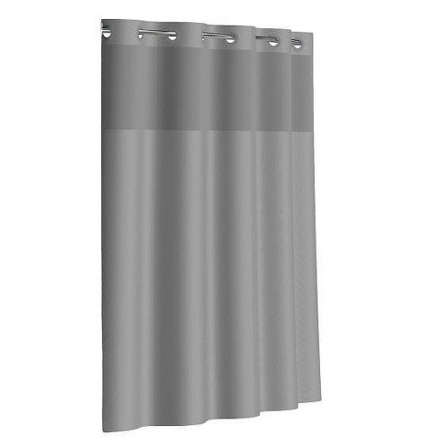 Dobby Texture Shower Curtain with Liner - Hookless - image 1 of 4
