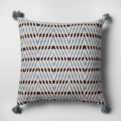 Blue Multi Zig Zag Oversized Throw Pillow - Threshold™