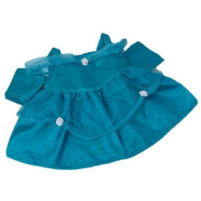 Doll Clothes Superstore Turquoise Silk Princess Dress Fits 15-16 Inch Baby Dolls
