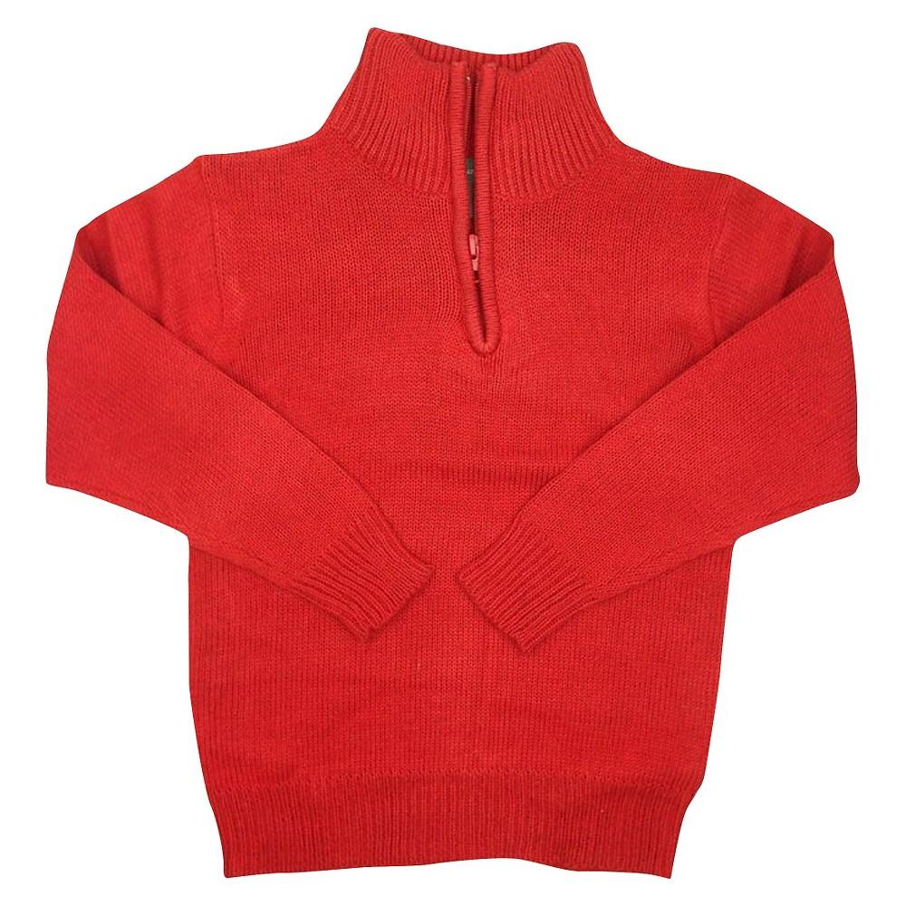 Eddie Bauer Boys' Half Zip Sweater 14-16 - Red