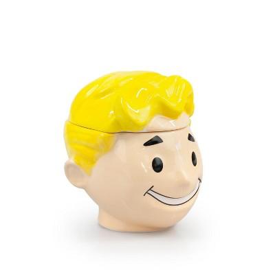 Just Funky Fallout Collectibles Smiling Vault Boy Cookie Jar | Fallout 3D Ceramic Jar