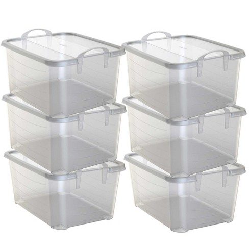 Life Story Clear Stackable Closet Storage Box 55 Quart Containers 6 Pack Target