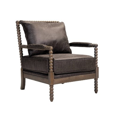 Home Colonnade Spindle Accent Chair   Brown   Studio Designs ...