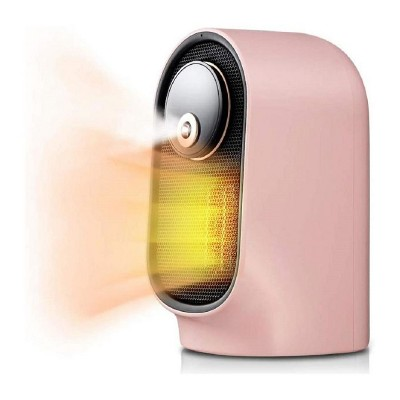 Geek Heat Slim Oscillating Personal Desktop Mini Space Heater with Humidifier for Home, Office, Study Room, Nursery, and Bedroom, Pink