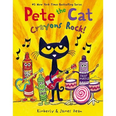 Pete the Cat Crayons Rock - by James Dean (Board Book)
