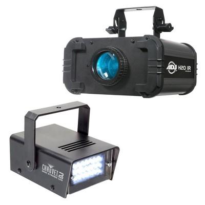 American DJ H2O IR LED Water Flowing 5 Colors Light Effect w/Chauvet Mini Strobe