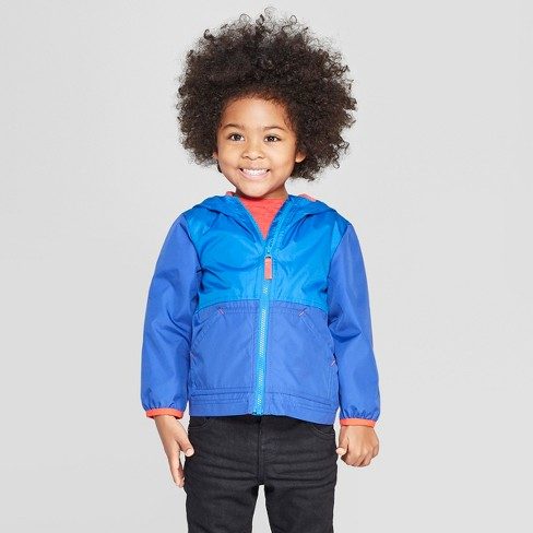 Toddler Boys' Colorblock Windbreaker - Cat & Jack™ Blue - image 1 of 3