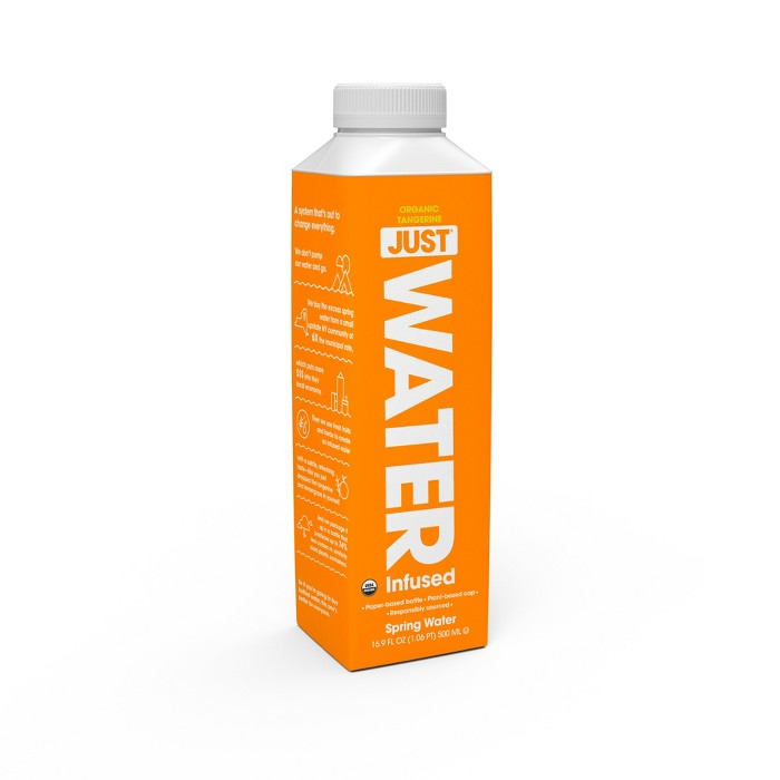JUST 100% Organic Tangerine Infused Water - 16.9 fl oz Bottle - image 1 of 1