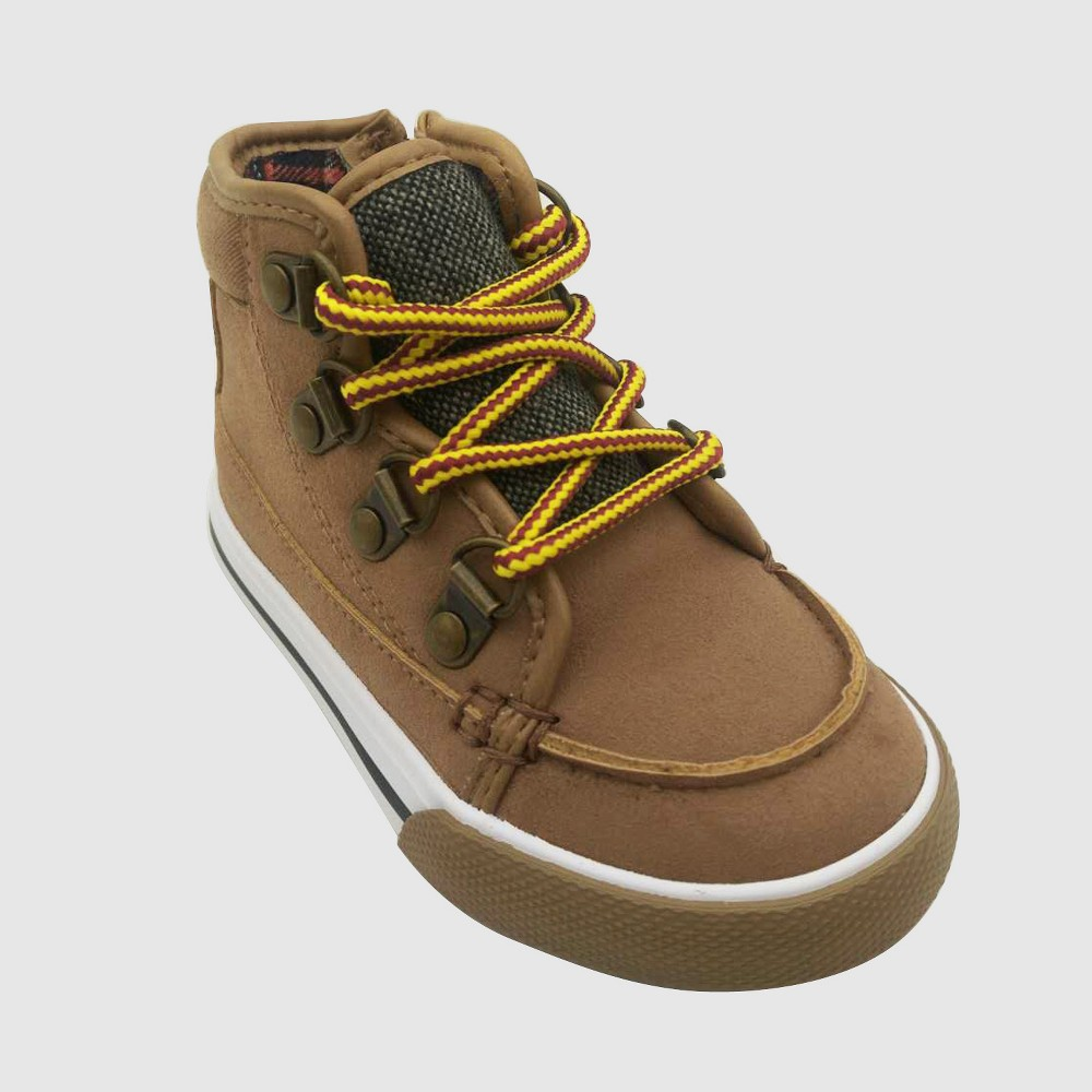 Toddler Boys' Bradshaw Mid Top Sneakers - Cat & Jack Tan 12, Beige