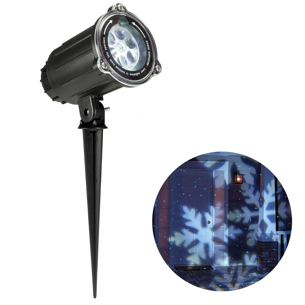 Philips Christmas Laser/Led Projector White Motion Snowflakes / Blue Dot Pattern