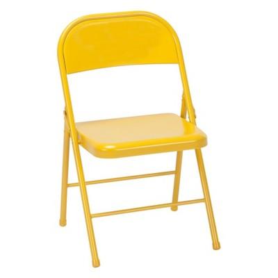 Cosco Set of 2 All Steel Folding Chair Orange