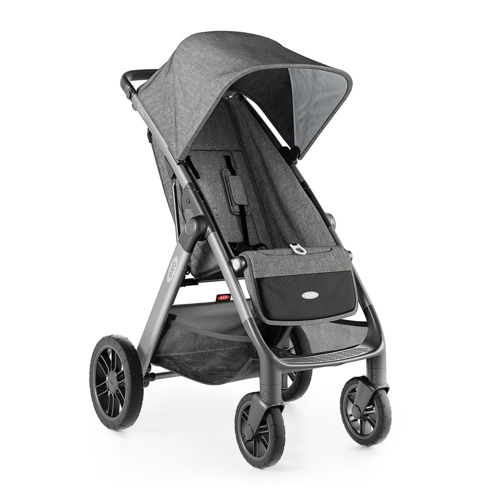 Oxo Cubby plus Stroller - Heather Gray Our Cubby Strollers solve pet peeves from storage to convenience and everything in between. The Cubby Strollers each feature a one-handed, smooth opening and closing, and so much more. Cubby Strollers solve pet peeves from storage to convenience and everything in between, giving you high-quality performance without sacrificing style. Cubby Strollers have thoughtful details galore, from a sandal-friendly brake that only requires the bottom of your foot to use, to a ventilated back panel that opens automatically when the seat is reclined. With two easy-access pockets in the back, and a generous, expandable basket underneath, Cubby Strollers feature plenty of storage for diapers, wipes, toys - everything you need for a stress-free stroll. We've even tucked a  secret  pocket up by the handle just for grown-ups to store phones, keys, wallets…plus, it's a great place to keep the ice cream truck money handy! Color: Heather Gray. Gender: Unisex.