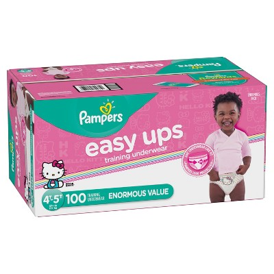 Pampers Easy Ups, Girls' Training Pants Enormous Pack - 4T-5T (100ct)