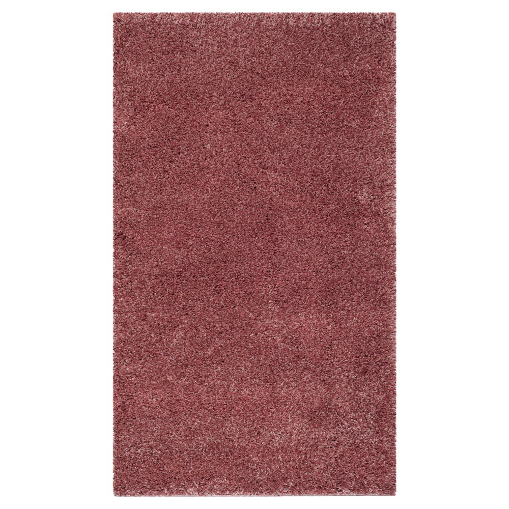 Rose (Pink) Solid Knotted Area Rug - (4'X6') - Safavieh