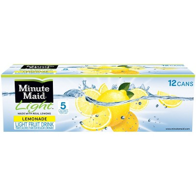 Minute Maid Light Lemonade - 12pk/12 fl oz Cans