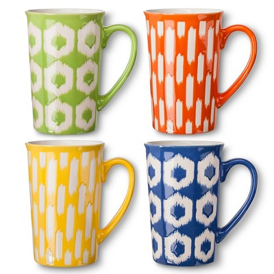 BIA Cordon Bleu Ikat Mugs Set of 4 (16 oz)