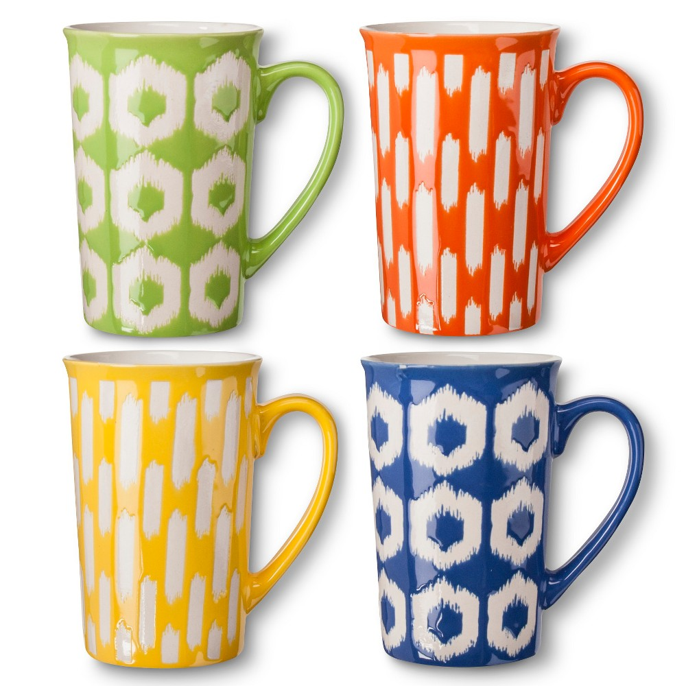 Image of BIA Cordon Bleu Ikat Mugs Set of 4 (16 oz)