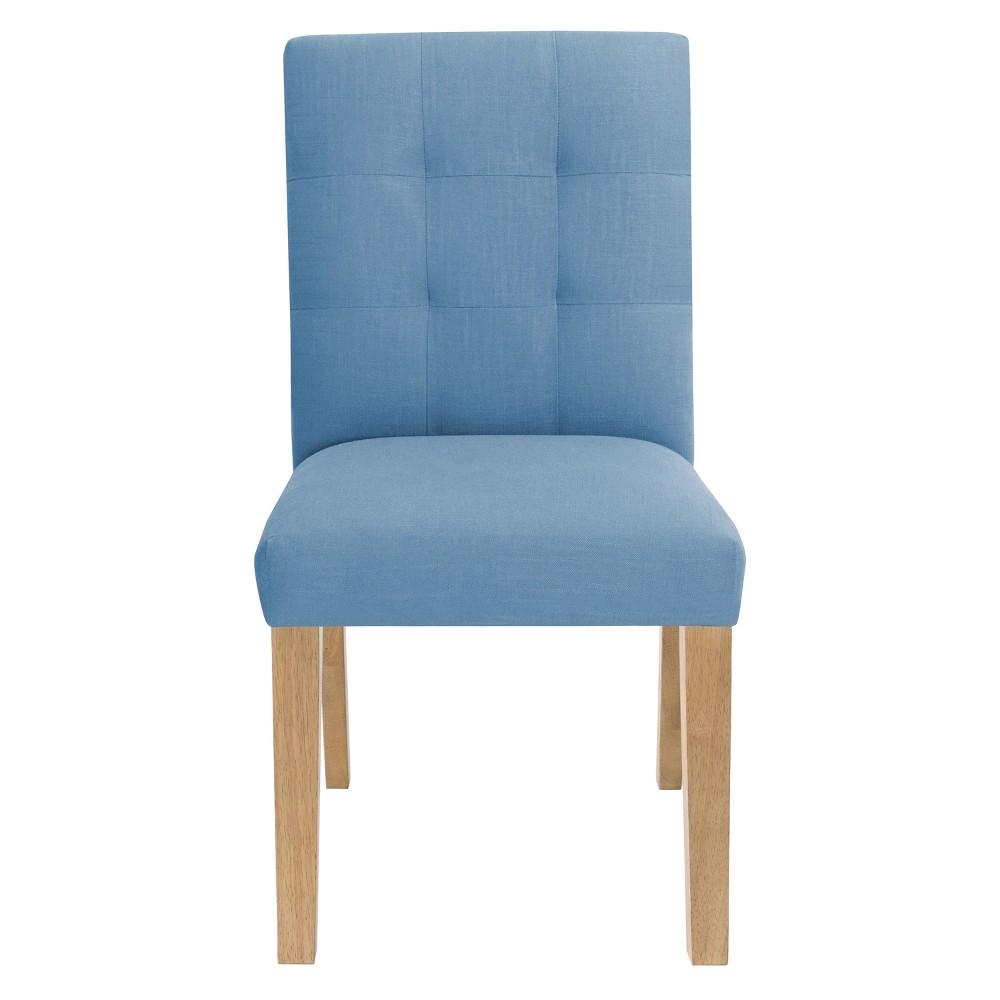 Tufted Dining Chair Denim Linen - Skyline Furniture