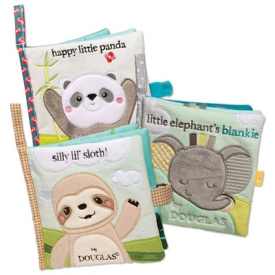 Douglas Sweet Animal Interactive Crinkle Cloth Books - Set of 3 Crinkle Books with Mirrors