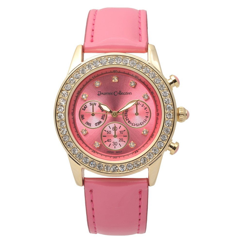 Journee Collection Women's Watch Pink Gold