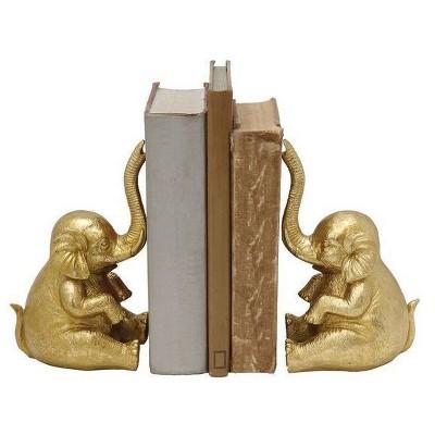 Elephant Bookends - Gold - 3R Studios