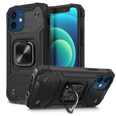 Insten Rugged Heavy Duty Case with 360 Ring Kickstand Compatible with iPhone - Shockproof Bumper Cover Accessories