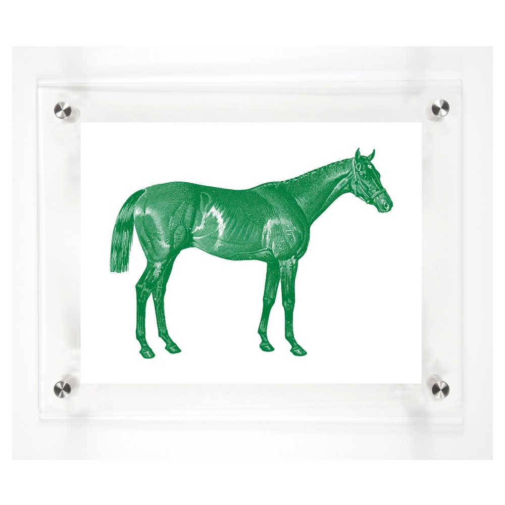 Mitchell Black Thoroughbred Decorative Framed Wall Canvas Grass (12