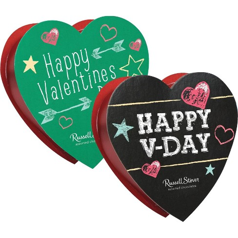 Russell Stover Valentine's Assorted Chocolates Chalkboard Heart - 1.75oz - image 1 of 1