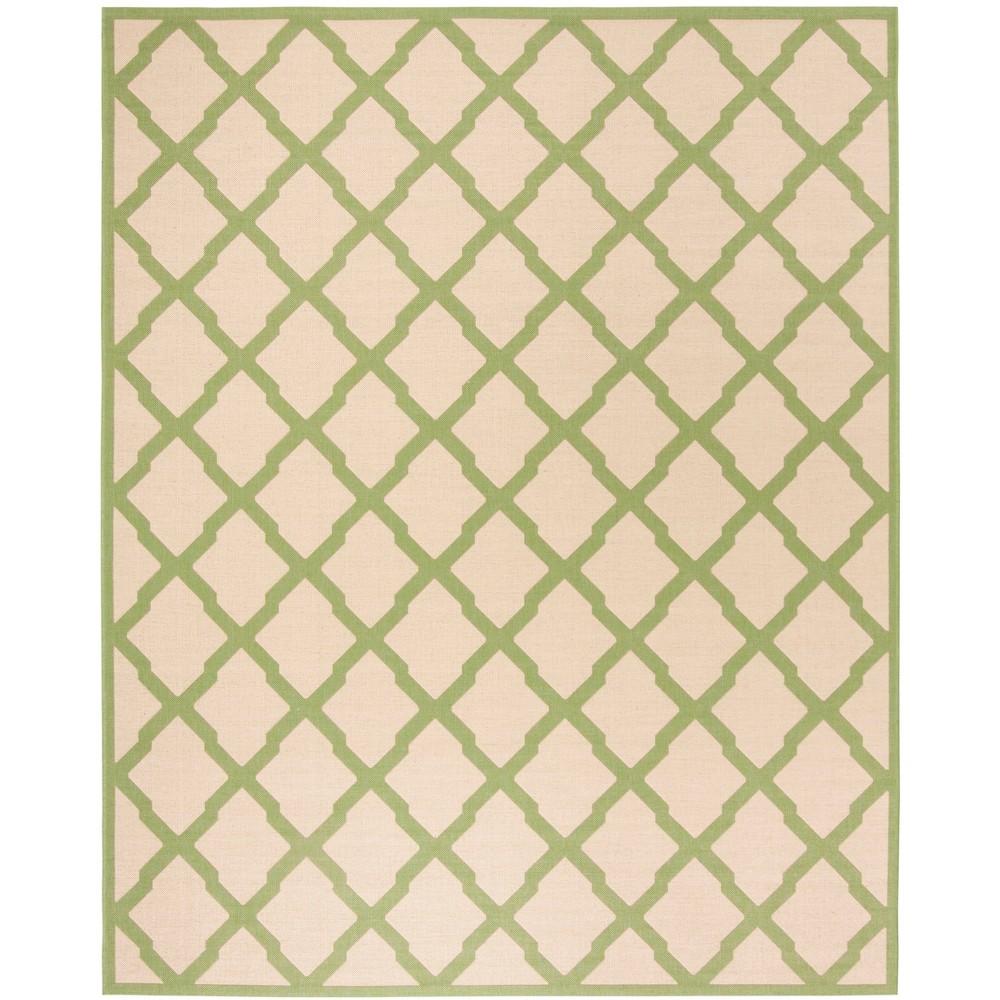 8'X10' Geometric Loomed Area Rug Cream/Olive - Safavieh, Beige