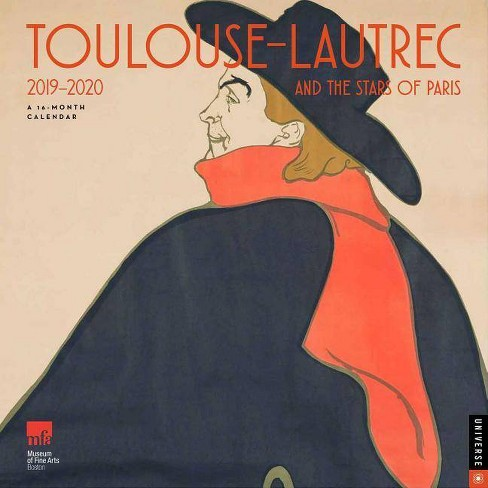 School Year Calendar 2020-16 Nyc Toulouse Lautrec And The Stars Of Paris 2019 2020 16 Month Wall