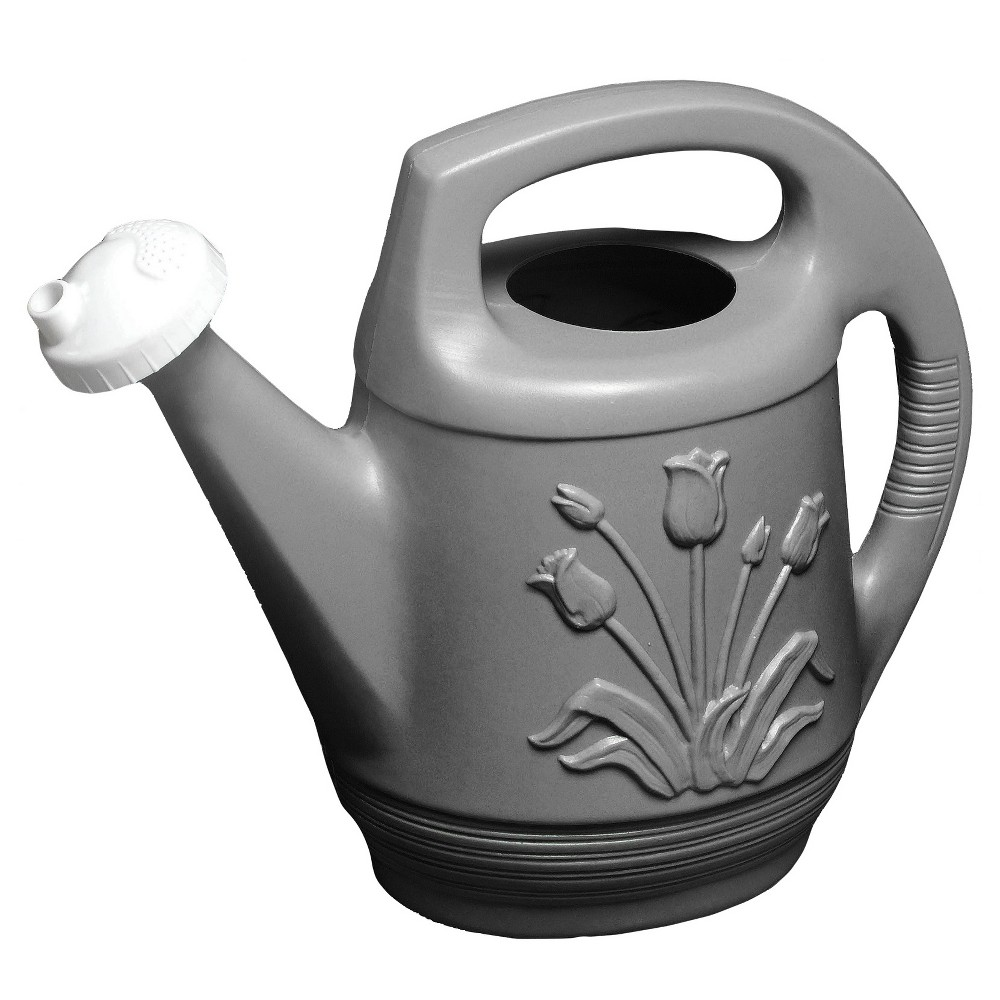 2gal Promo Watering Can With Rotating Nozzle - Peppercorn - Bloem, Gray